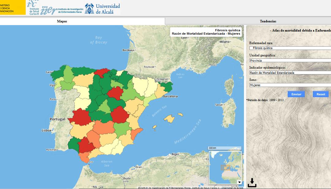 MAPA INTERACTIVO: presentan un Atlas de la Mortalidad de las EERR en España