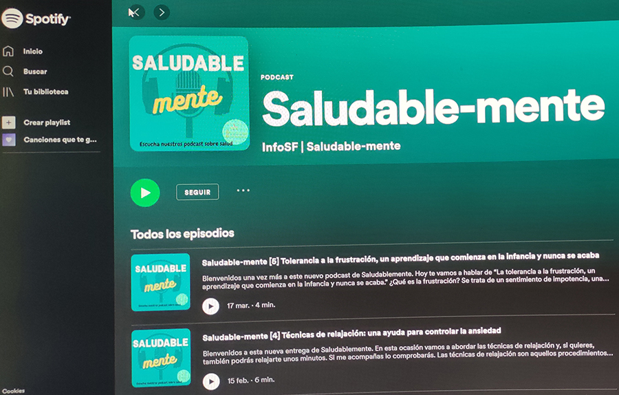 Los podcast de Saludable-mente ahora también en Spotify